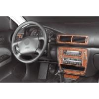 VÝPRODEJ Decor interiéru Volkswagen Passat 3BG (všechny modely) --  rok výroby 2000-05 (16 dílů přístrojová deska/ středová konzola) - BARVA KOŘENICE 96